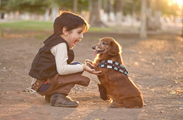 Han Solo and Chewbacca, Boy and his dog.