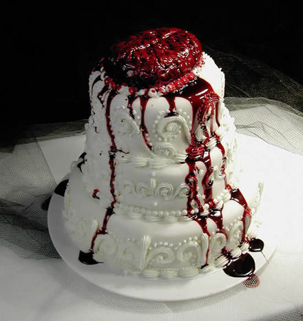 Wedding cake — Brains!