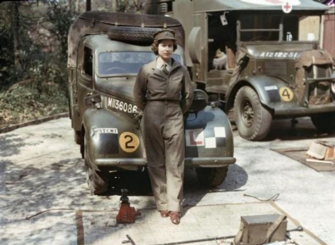 Queen Elizabeth's uniformed service in WWII.