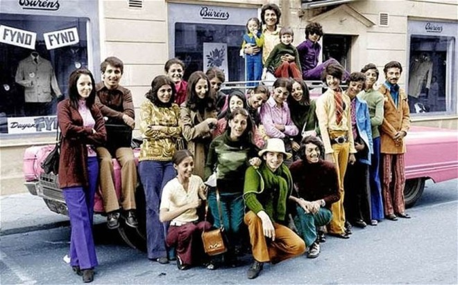 A young Osama Bin Laden (and family) in Sweden, circa 1970's.