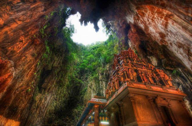Temple Deep in the Caves, Borneo, Indonesia