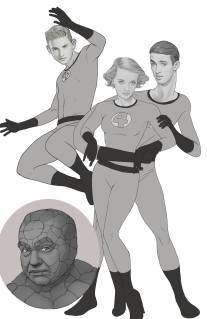 Bette Davis, Roddy McDowell, & Edward G. Robinson with El Blocton in Fantastic Four