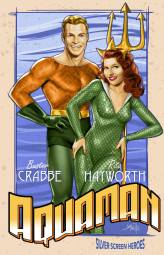 Buster Crabbe & Rita Hayworth in Aquaman