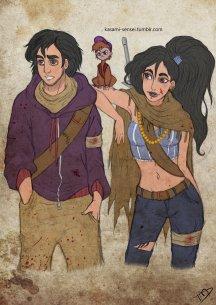 Aladdin, Jasmine, and Abu