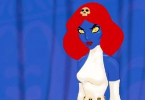 Princess Jasmine as Mystique