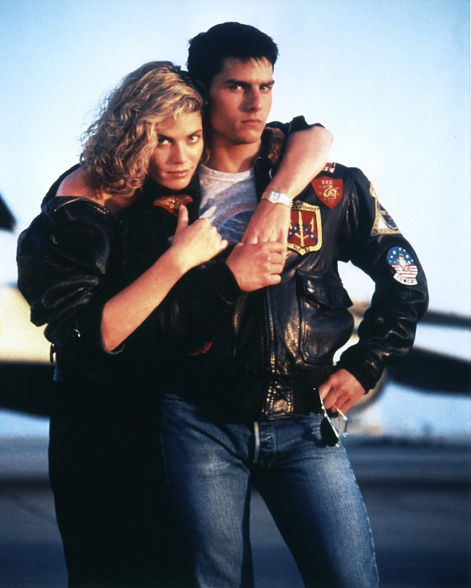 "Kelly McGillis and Tom Cruise, ""Top Gun"" 1986 fot. Photoshot/REPORTER"